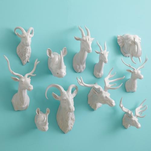 Ceramic Animal Heads Bridge City Mercantile